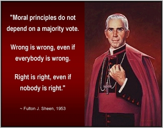 Vote according to right or wrong, not majority!