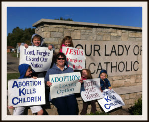 Abortion Kills Children and other Life Chain signs