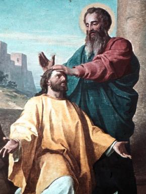 St Paul ordaining St Timothy