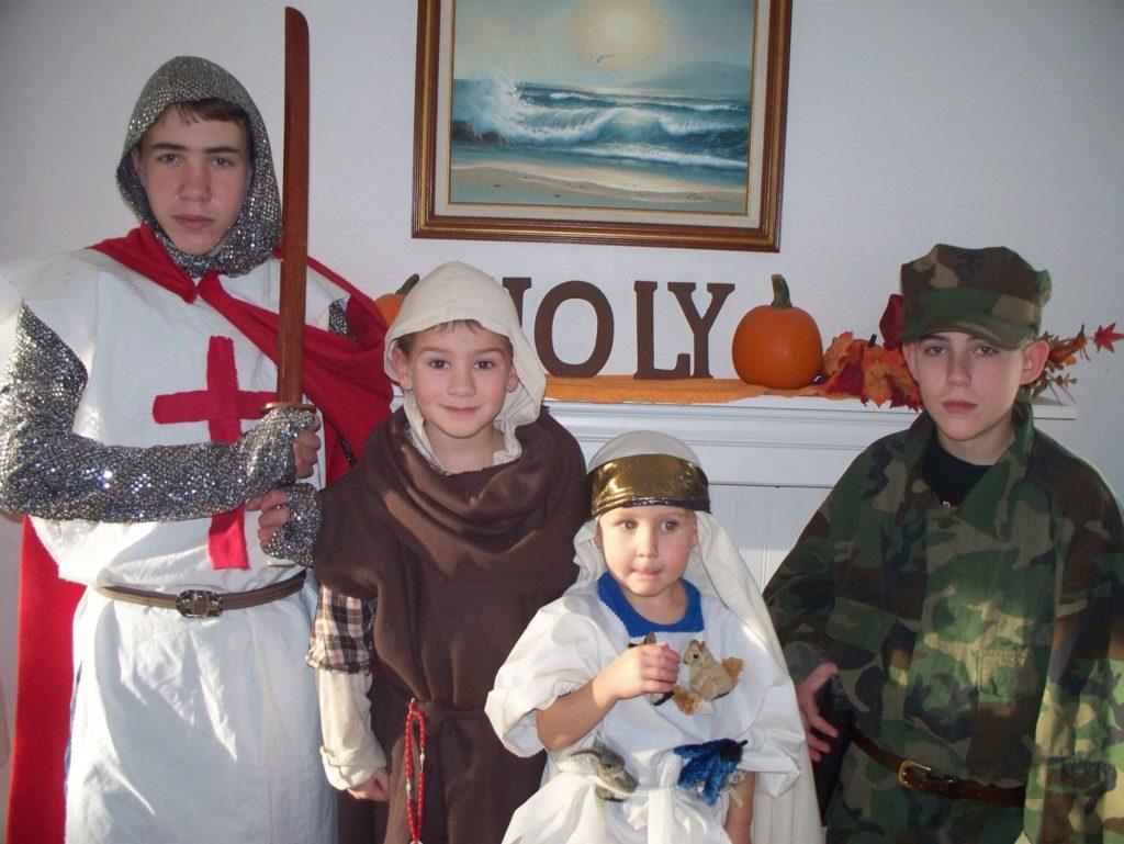 A crusader, St. Francis, Noah and the Venerable Vincent Capadano