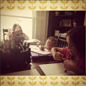 A typical lazy homeschool morning.