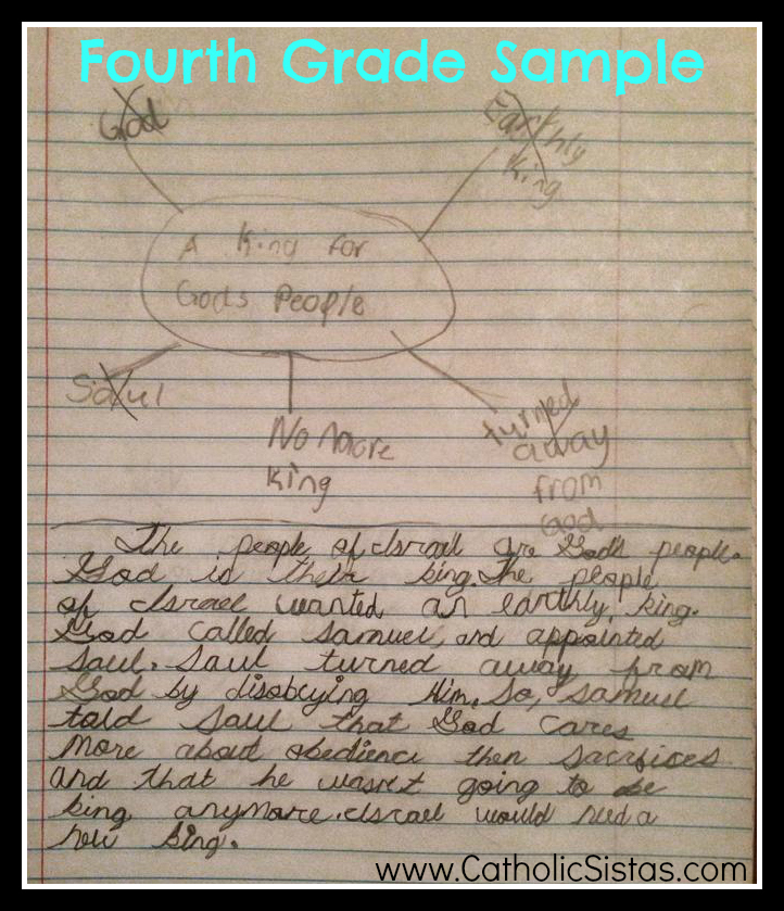 Fourth Grade Writing Sample