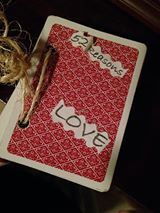 Create a deck of cards, with 52 reasons you love your spouse. On the last card, announce the new baby!