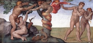 The Fall of Man, Michelangelo,