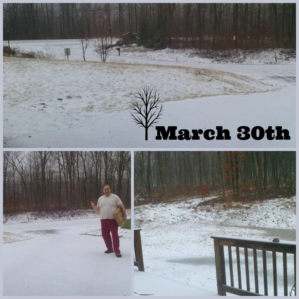 """Yes, this was on March 30th...a whole 9 days into """"Spring"""""""