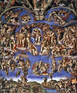 499px-Michelangelo,_Giudizio_Universale_02