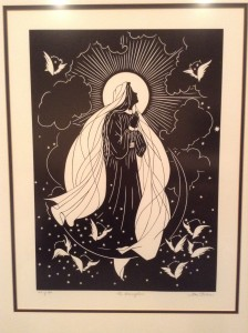 A print we have in our home of the Assumption of Mary.