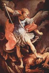 Michael Tramples Satan by Guido Reni (1636)