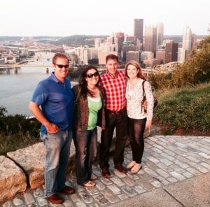 My husband and I {left} with his sis and brother-in-law - we went out to dinner in Pittsburgh over the summer. Dinners out are a great way to reconnect!