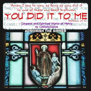 Admonish sinner
