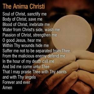 Anima Christi prayer