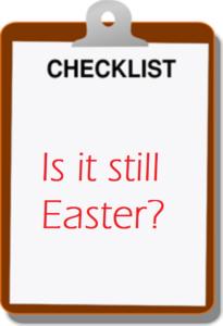 Easter checklist