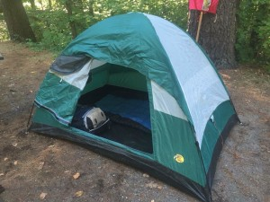 His sleeping quarters for the Pilgrimage.