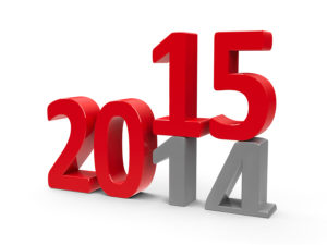2014-2015 change represents the new year 2014 three-dimensional rendering