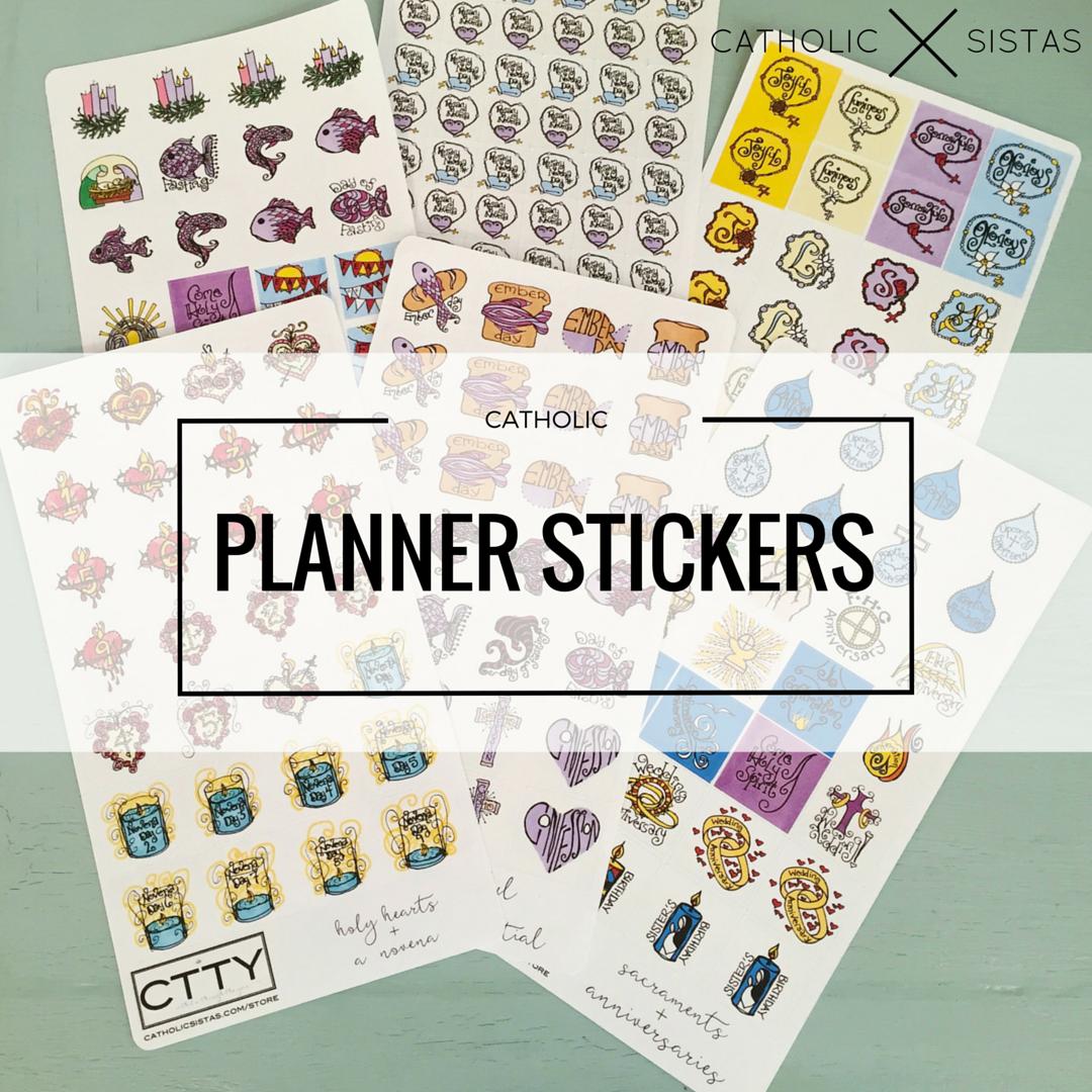 Catholic Planner Stickers