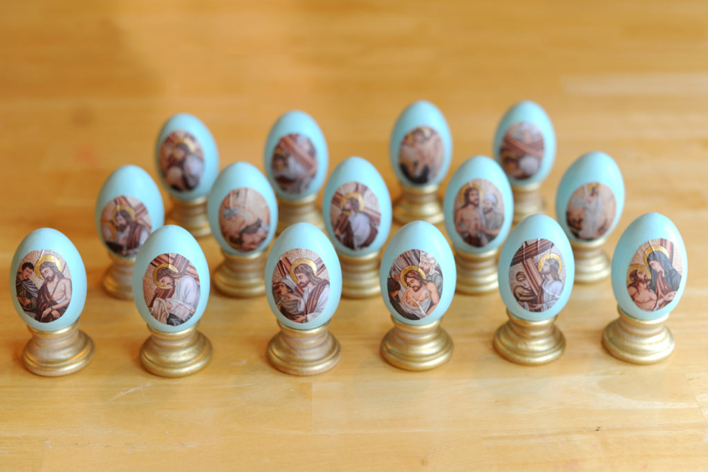 Complete Set of Stations of the Cross Eggs
