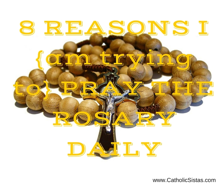 8 Reasons I {am trying to} Pray the Rosary Daily