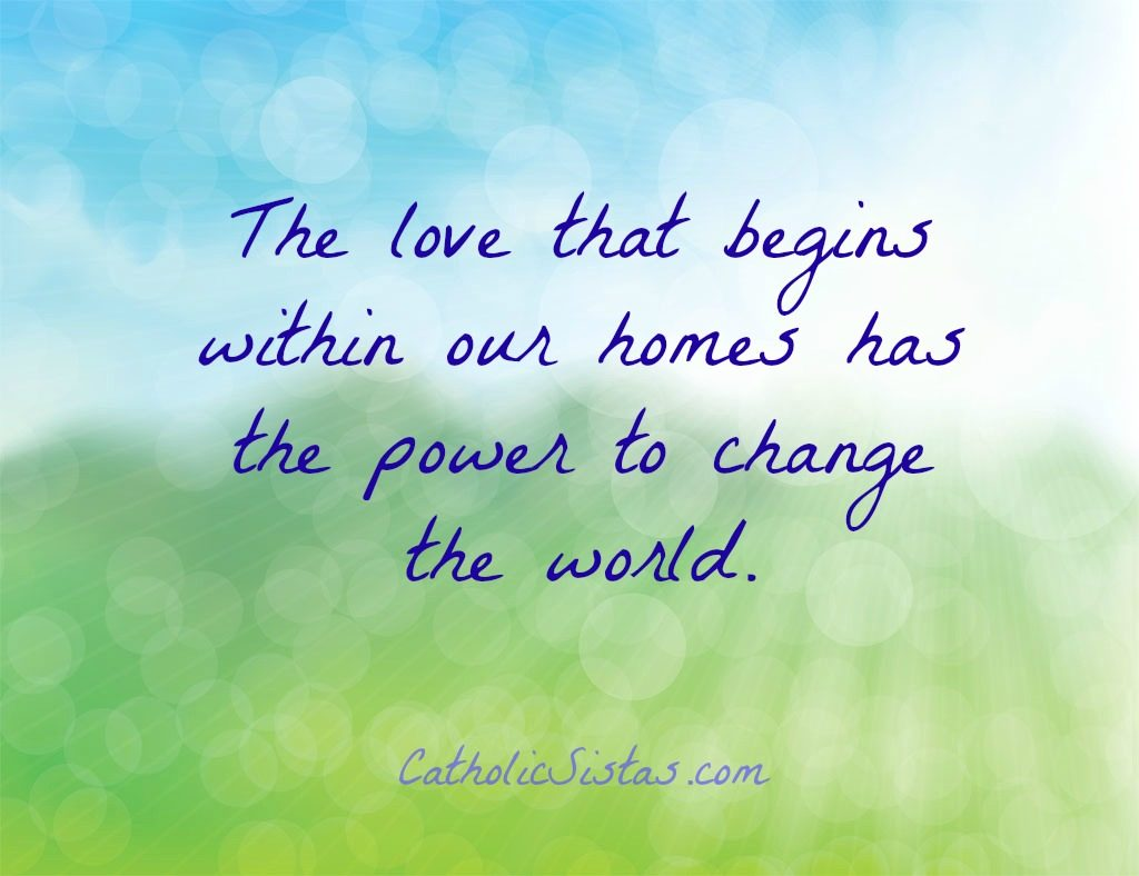 love changes the world