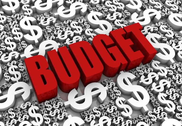 Budget-red-word-with-dollar-signs