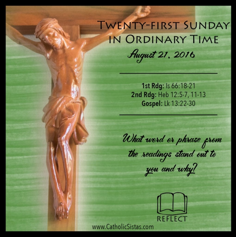 Reflect for Ordinary Time- August 21