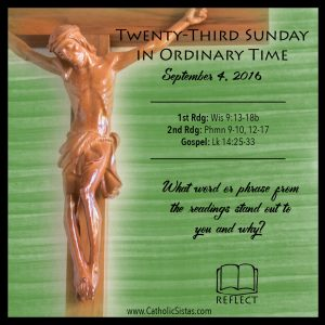 Reflect for Ordinary Time- Sept 4