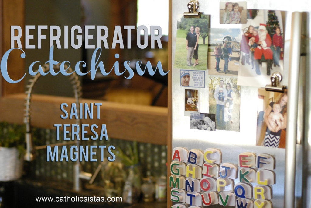 Refrigerator Catechism: Saint Teresa Magnets
