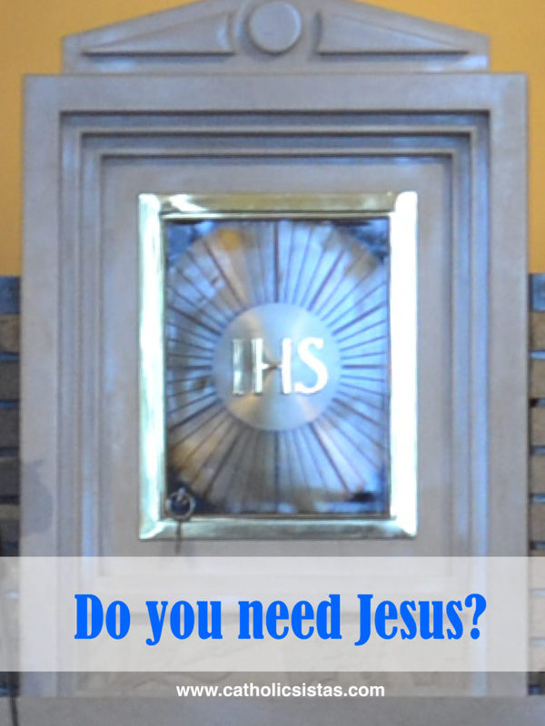 Do You Need Jesus?