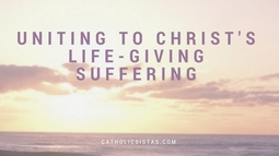 Uniting to Christ's Life-Giving Suffering