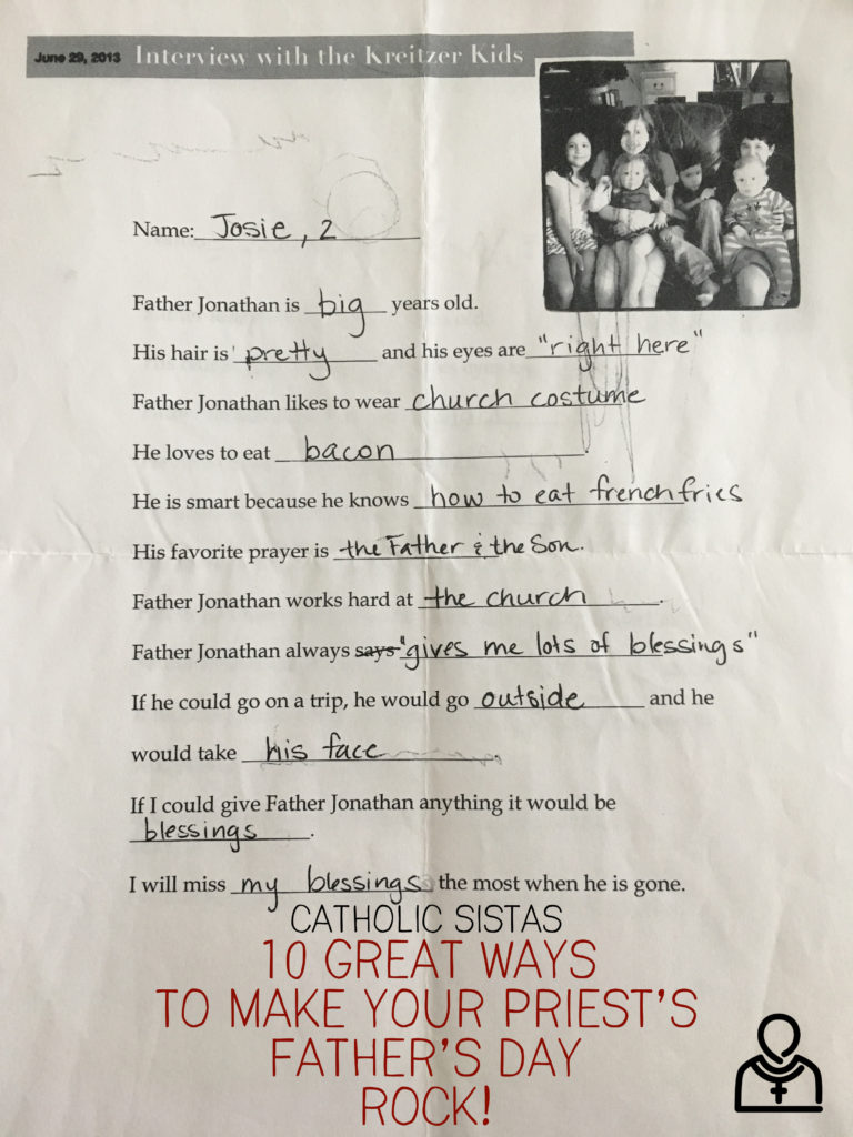 10 Great Ways to Make Your Priest's Father's Day ROCK!