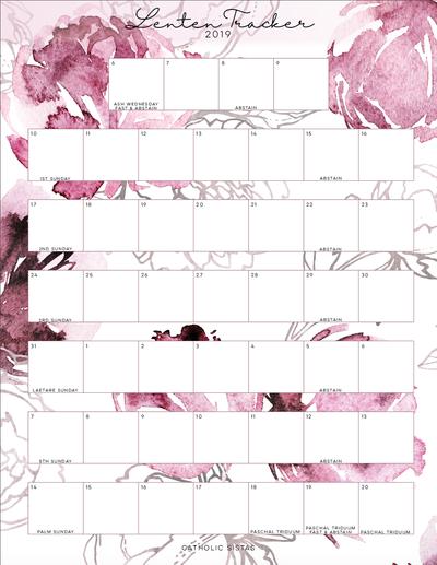 Lenten Tracker 2019