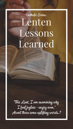 Lenten Lessons Learned