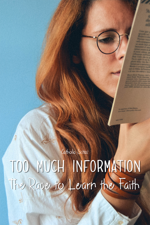 Too Much Information The Race to Learn the Faith