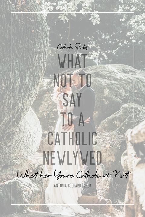 Catholic newlywed, newlywed